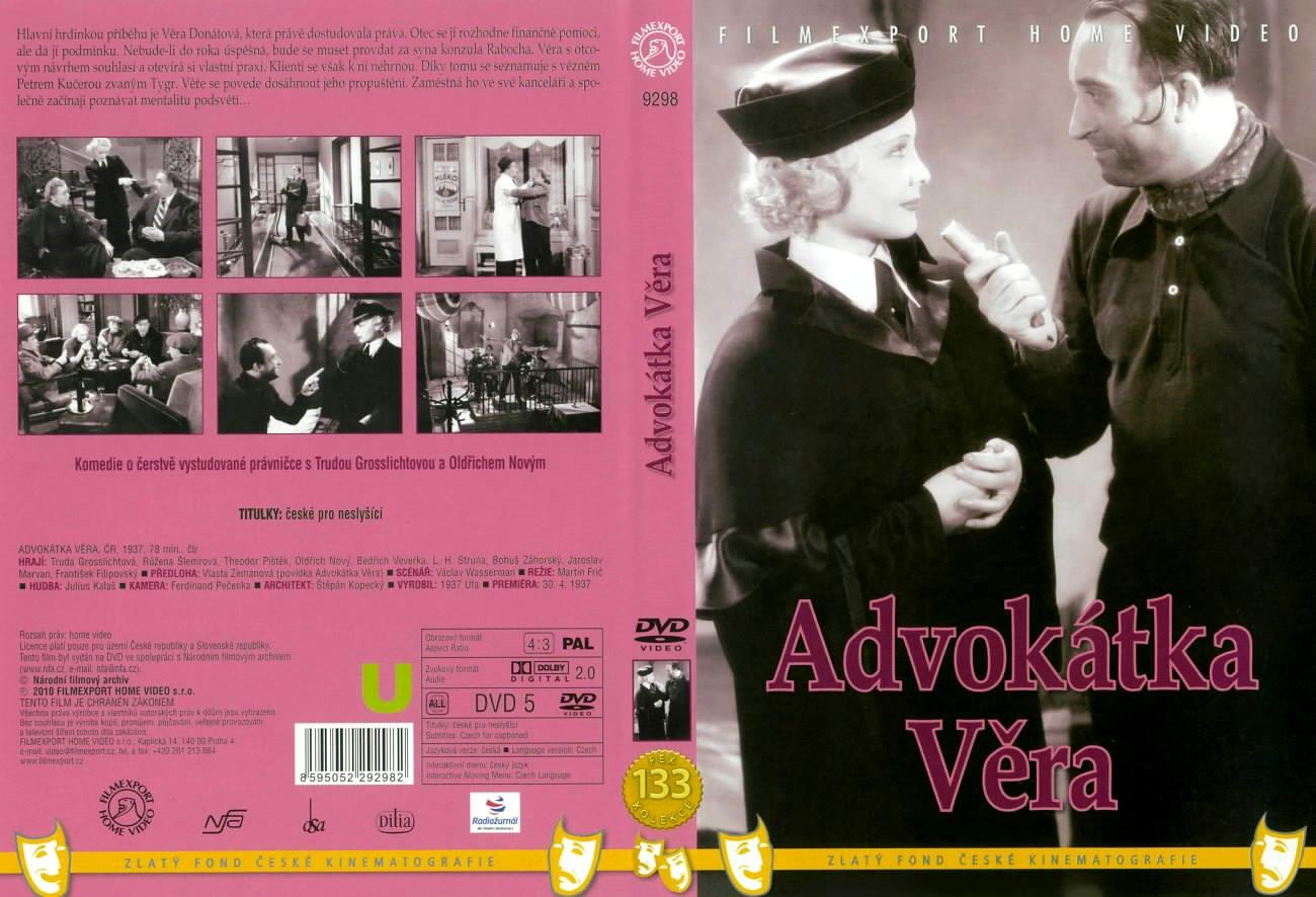 DVD obal Advokátka Věra