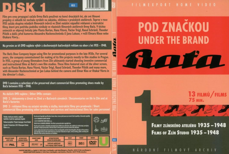 Přední strana kompletu DVD Pod značkou Baťa
