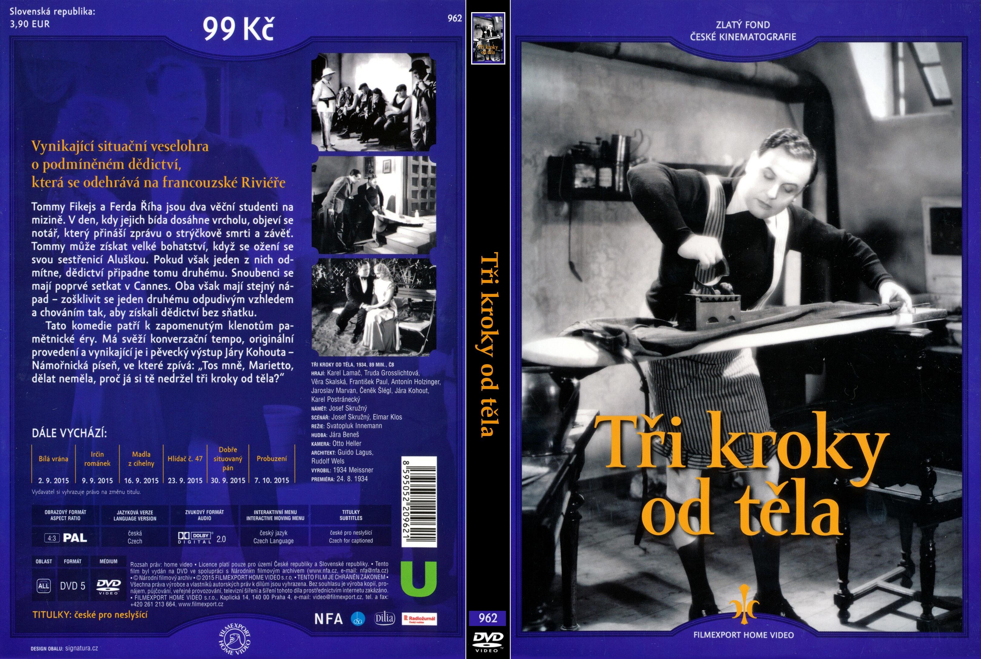 DVD obal Tři kroky od těla