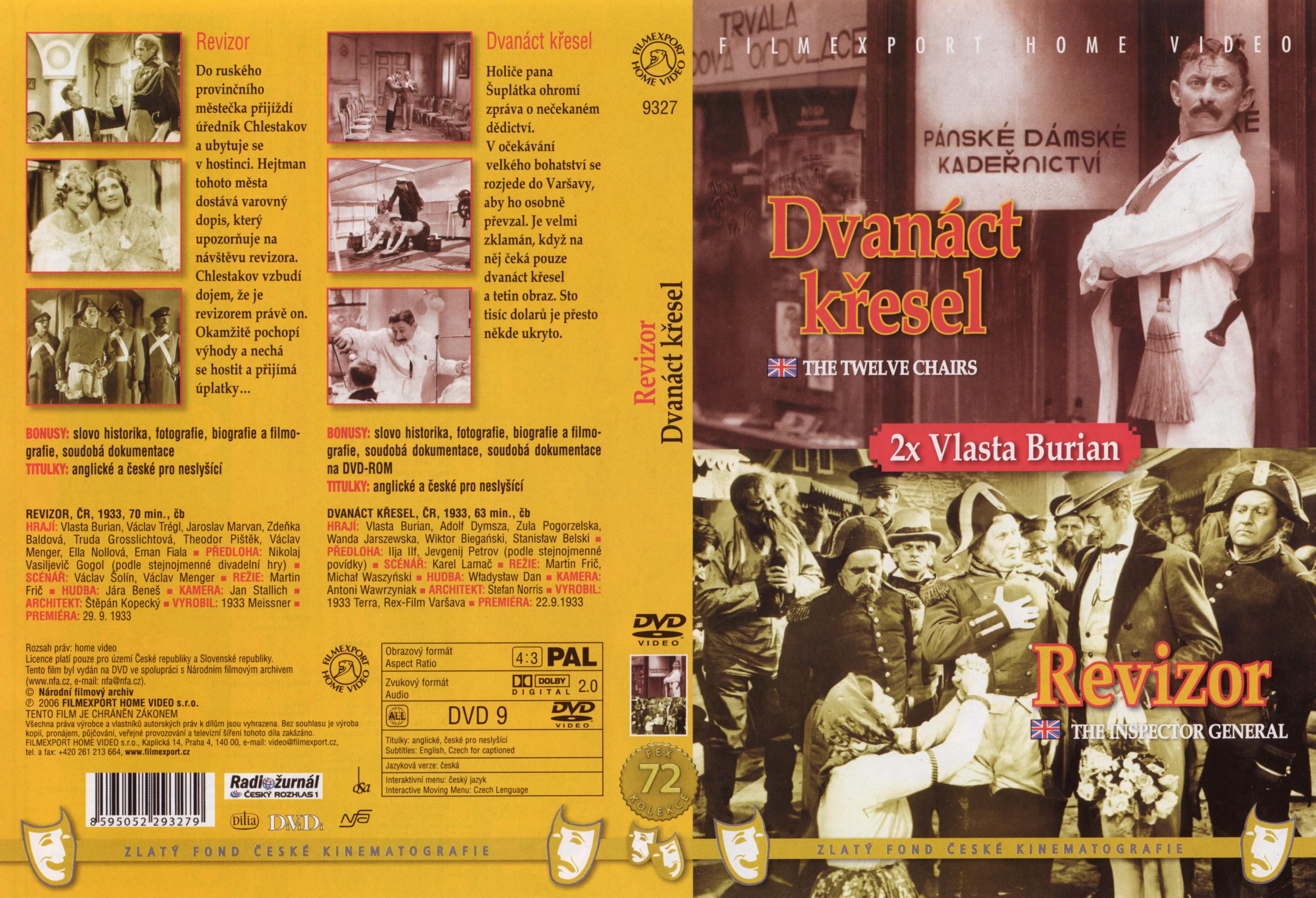 Odal DVD Revizor + Dvanáct křesel